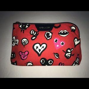 Estée Lauder Red Cosmetic Bag
